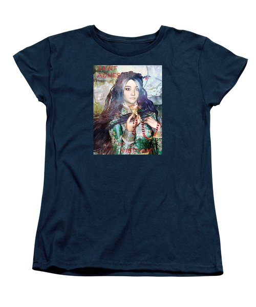 Women's T-Shirt (Standard Cut) featuring the painting Saint Agnes Le Thi Thanh by Suzanne Silvir