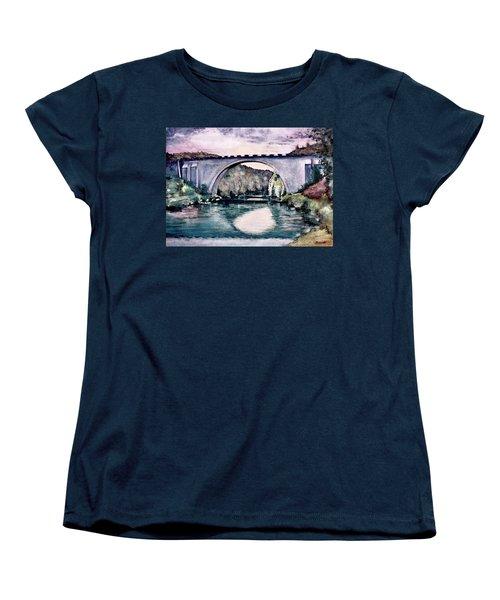 Women's T-Shirt (Standard Cut) featuring the painting Saint Bridge by Geni Gorani