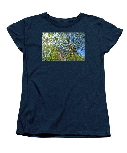 Saint Catharine's Church In Brielle Women's T-Shirt (Standard Cut) by Frans Blok