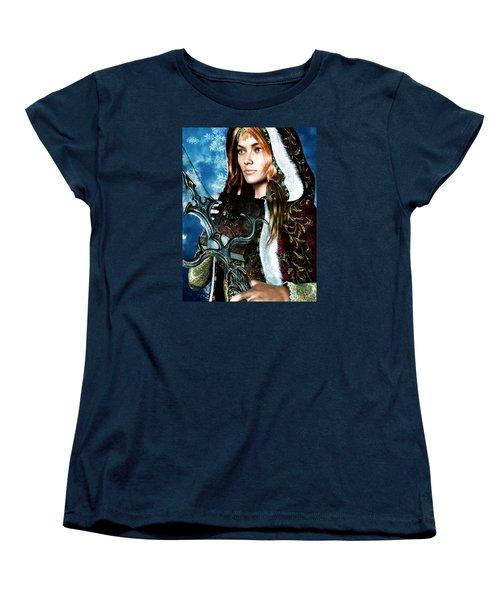 Saint Dymphna 5 Women's T-Shirt (Standard Cut) by Suzanne Silvir