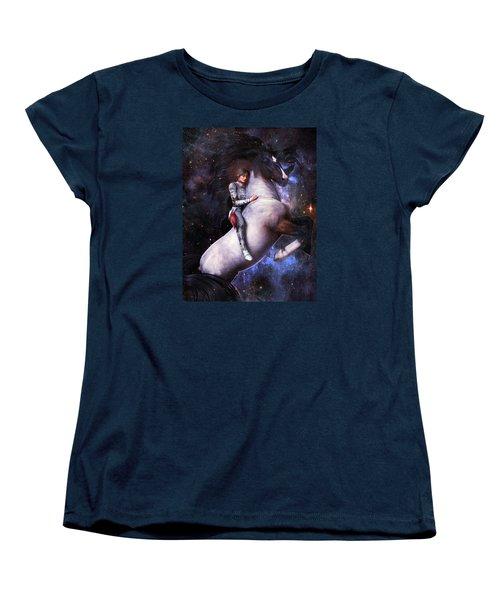 Women's T-Shirt (Standard Cut) featuring the painting Saint Joan Of Arc by Suzanne Silvir