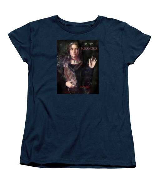 Saint Melangell Of Wales Women's T-Shirt (Standard Cut) by Suzanne Silvir