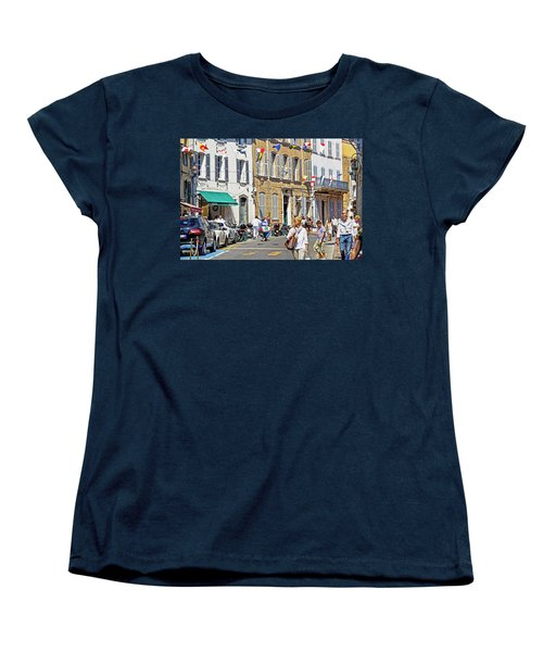 Saint Tropez Moment Women's T-Shirt (Standard Cut) by Keith Armstrong