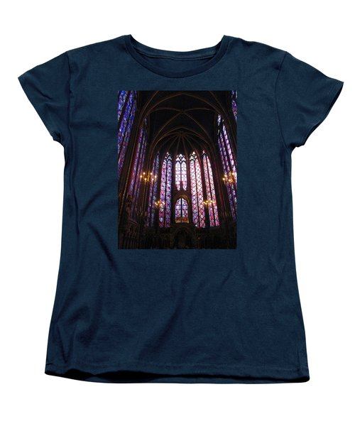 Women's T-Shirt (Standard Cut) featuring the photograph Sainte-chapelle by Christopher Kirby