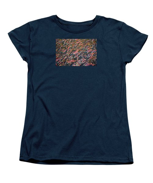 Salmon So Thick You Can Walk On Them Women's T-Shirt (Standard Cut) by Mary Lee Dereske