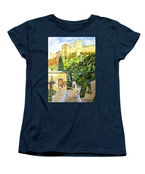Women's T-Shirt (Standard Cut) featuring the painting Saltzburg by Michael Daniels