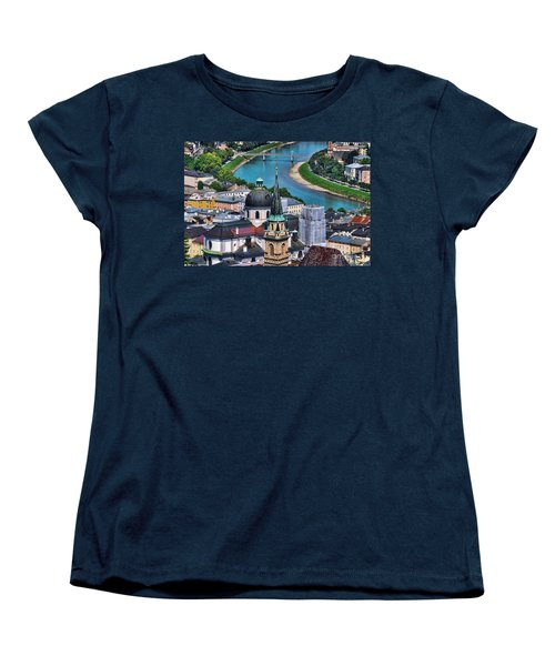 Salzburg Austria Europe Women's T-Shirt (Standard Cut) by Sabine Jacobs