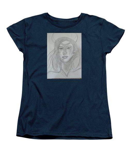 Samarai Warrior Woman Women's T-Shirt (Standard Cut) by Sharyn Winters