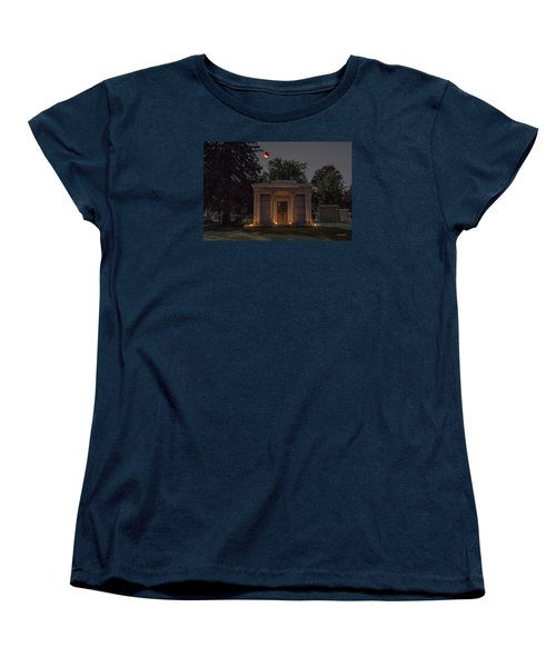Samuel D. Nicholson Mausoleum Under The Blood Moon Women's T-Shirt (Standard Cut) by Stephen  Johnson