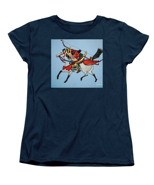 Women's T-Shirt (Standard Cut) featuring the painting Samurai Rider by Stephanie Moore