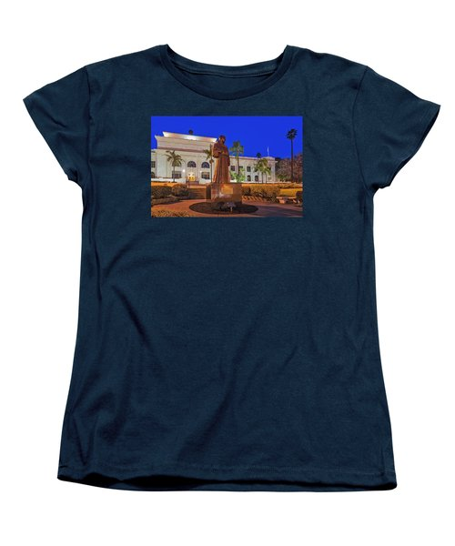 Women's T-Shirt (Standard Cut) featuring the photograph San Buenaventura City Hall by Susan Candelario