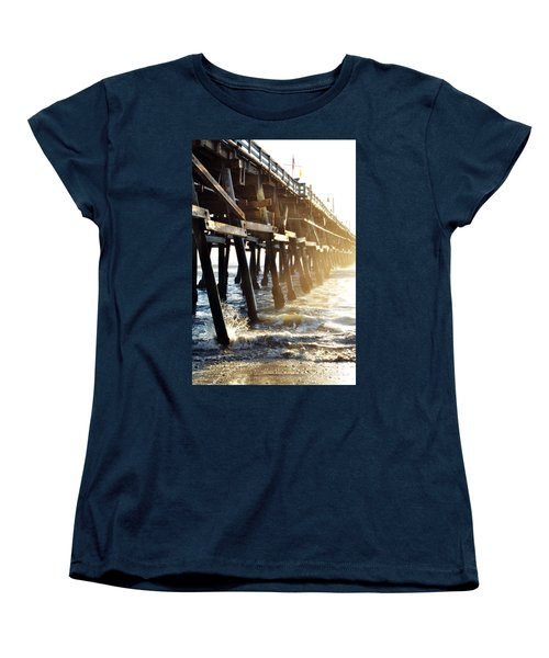 Women's T-Shirt (Standard Cut) featuring the photograph San Clemente Pier Magic Hour by Kyle Hanson