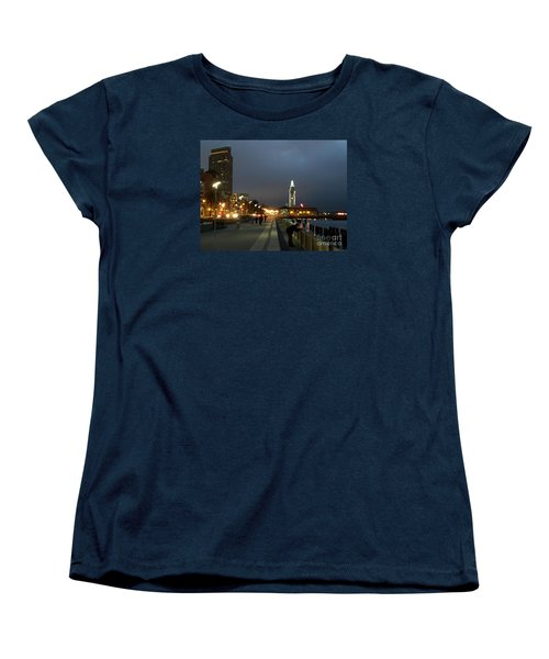 Women's T-Shirt (Standard Cut) featuring the photograph San Francisco Bay At Night by Haleh Mahbod