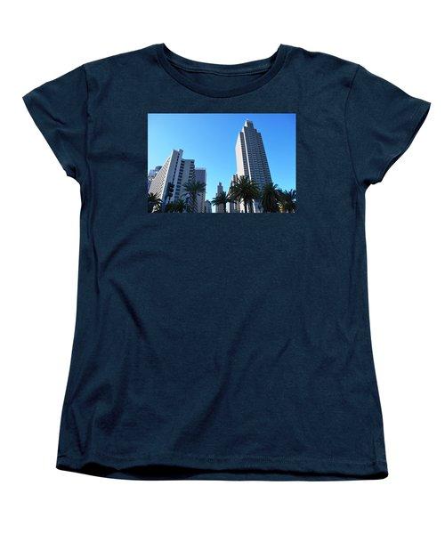 San Francisco Embarcadero Center Women's T-Shirt (Standard Cut) by Matt Harang