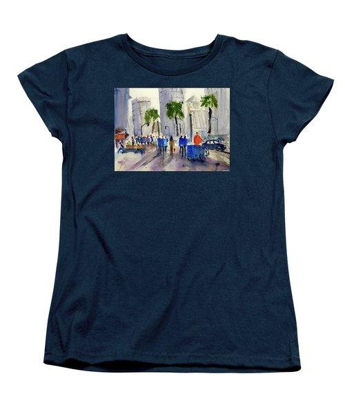 San Francisco Embarcadero Women's T-Shirt (Standard Cut) by Tom Simmons
