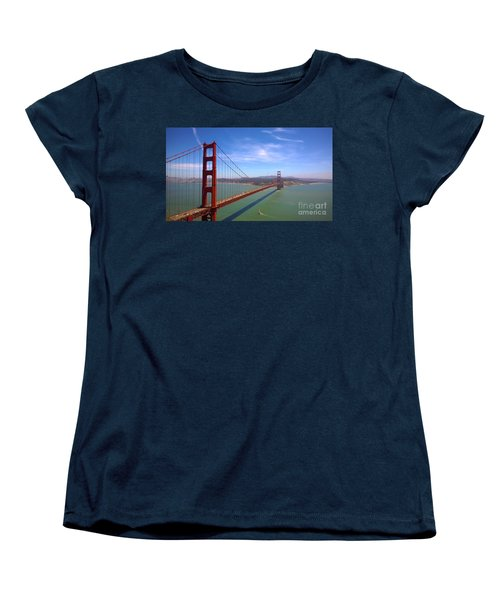 Women's T-Shirt (Standard Cut) featuring the photograph San Francisco Golden Gate Bridge by Debra Thompson