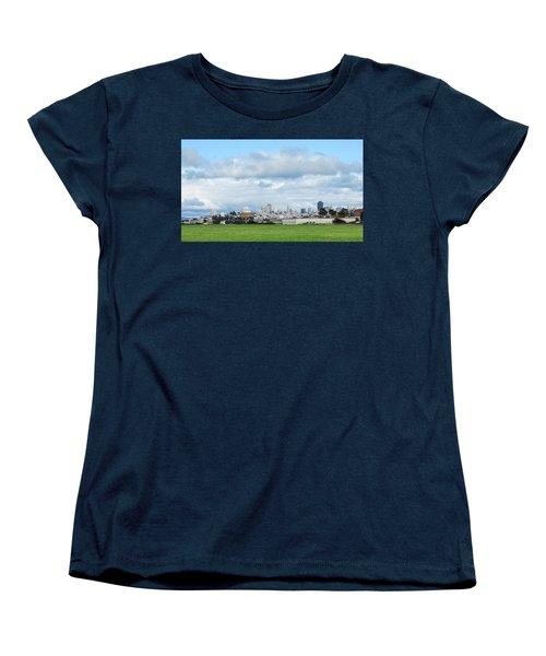 San Francisco Skyline From Crissy Field Women's T-Shirt (Standard Cut) by Mark Barclay