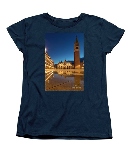 Women's T-Shirt (Standard Cut) featuring the photograph San Marco Twilight by Brian Jannsen