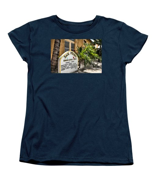 San Pedro Roman Catholic Church Women's T-Shirt (Standard Cut) by Lawrence Burry