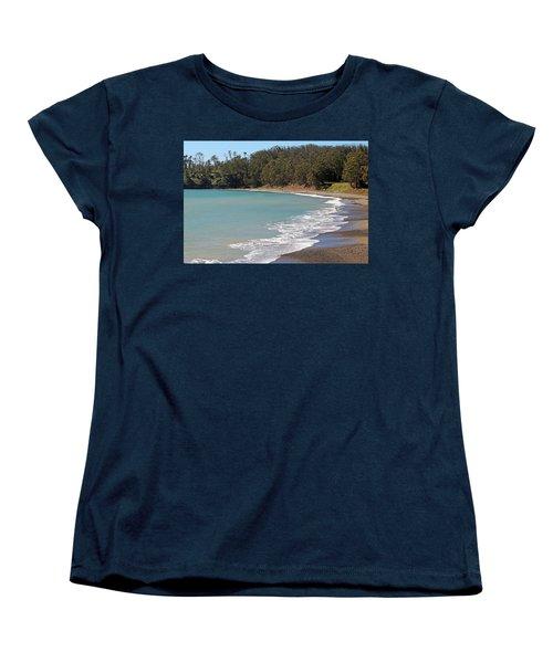 Women's T-Shirt (Standard Cut) featuring the photograph San Simeon Cove by Art Block Collections