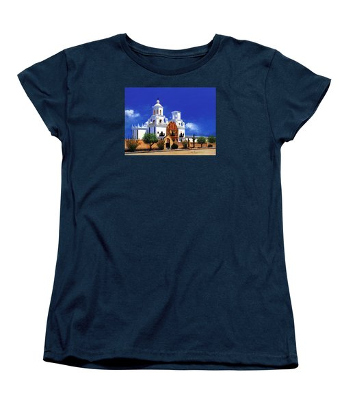 San Xavier Del Bac Mission Women's T-Shirt (Standard Cut) by M Diane Bonaparte