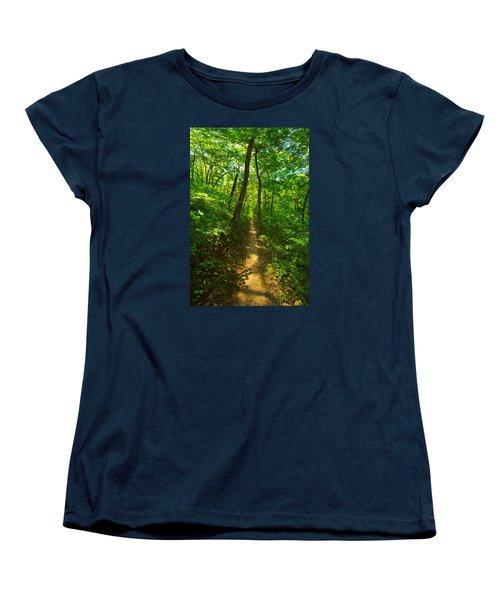 Sand Cave Trail Women's T-Shirt (Standard Cut) by Phil Koch