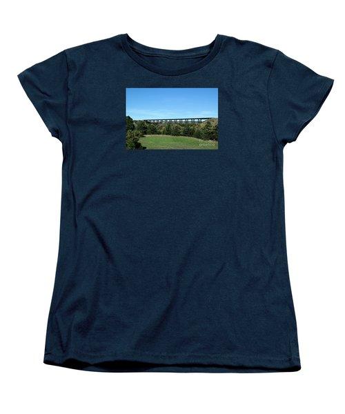 Women's T-Shirt (Standard Cut) featuring the photograph Sandhills Railroad Bridge  by Mark McReynolds