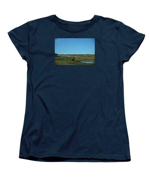 Women's T-Shirt (Standard Cut) featuring the photograph Sandhills Ranch by Mark McReynolds