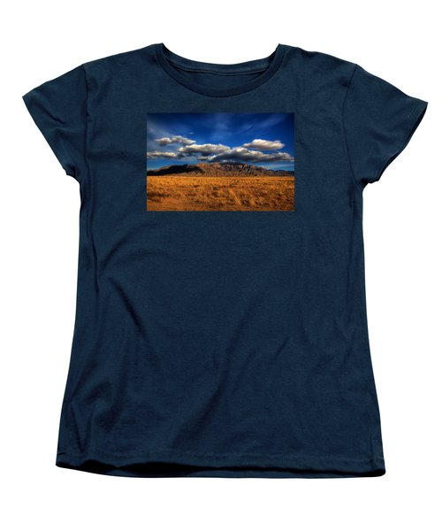 Sandia Crest In Late Afternoon Light Women's T-Shirt (Standard Cut) by Alan Vance Ley