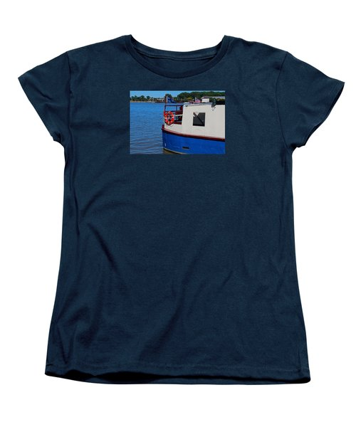 Women's T-Shirt (Standard Cut) featuring the photograph Sandpiper On The Maumee by Michiale Schneider