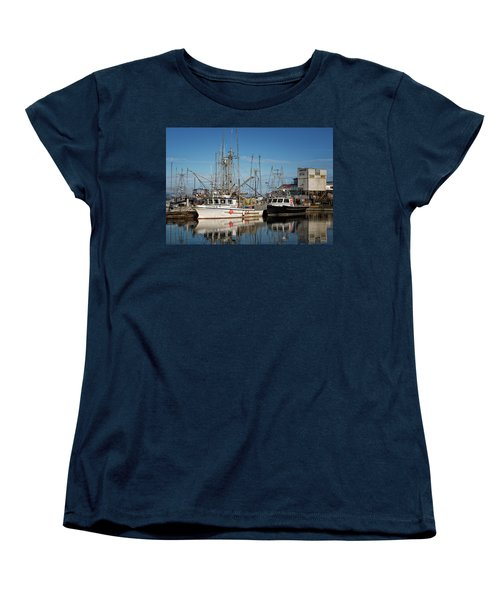 Women's T-Shirt (Standard Cut) featuring the photograph Sandra M And Lasqueti Dawn by Randy Hall