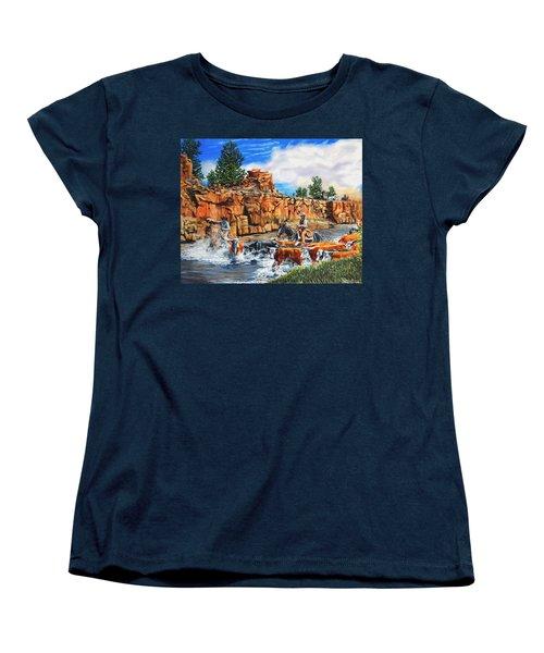 Sandstone Crossing Women's T-Shirt (Standard Cut) by Ruanna Sion Shadd a'Dann'l