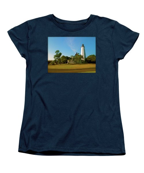 Women's T-Shirt (Standard Cut) featuring the photograph Sandy Hook Lighthouse by Iconic Images Art Gallery David Pucciarelli