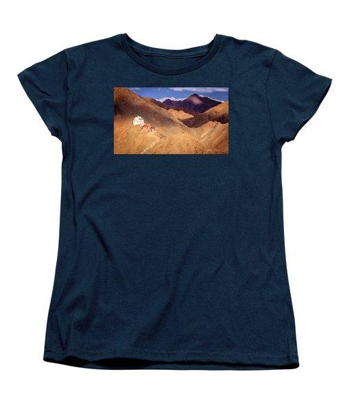 Women's T-Shirt (Standard Cut) featuring the photograph Sankar Monastery by Alexey Stiop