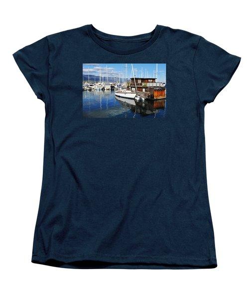 Women's T-Shirt (Standard Cut) featuring the photograph Santa Barbara Harbor by Kyle Hanson