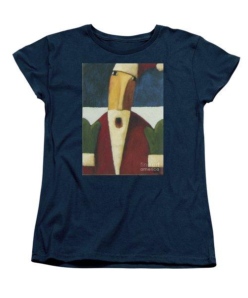 Women's T-Shirt (Standard Cut) featuring the painting Santa by Glenn Quist