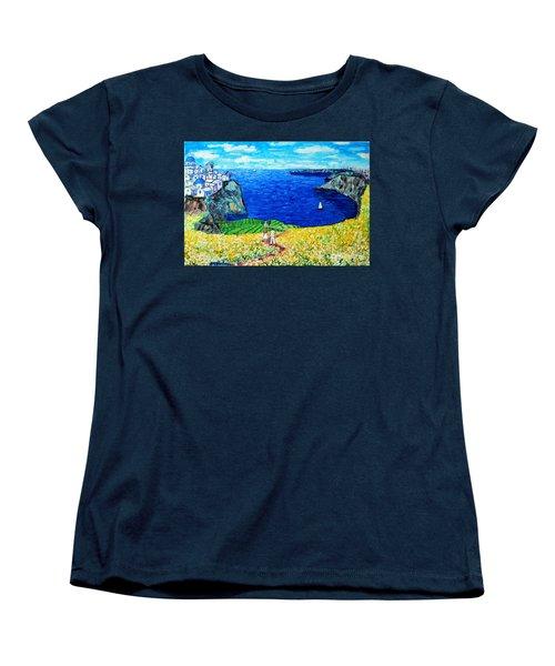 Santorini Honeymoon Women's T-Shirt (Standard Cut) by Ana Maria Edulescu