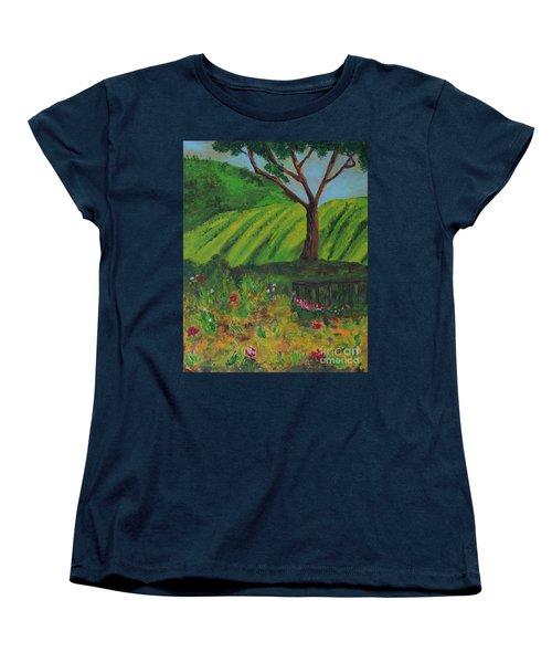 Saratoga Hills Women's T-Shirt (Standard Cut) by Haleh Mahbod