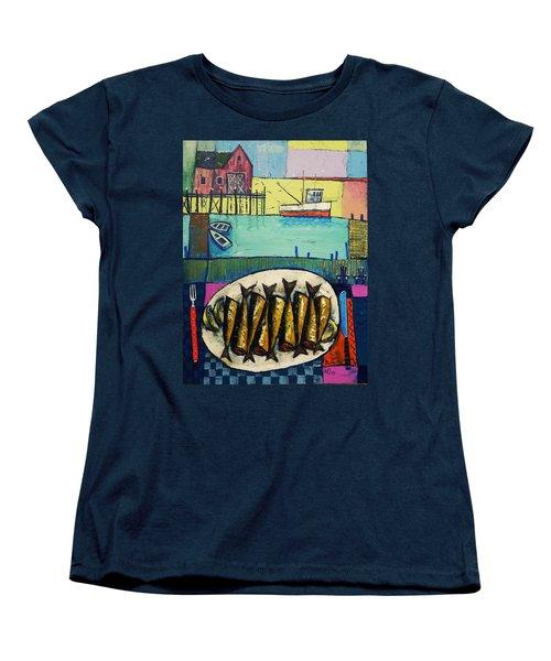 Sardines Women's T-Shirt (Standard Cut) by Mikhail Zarovny