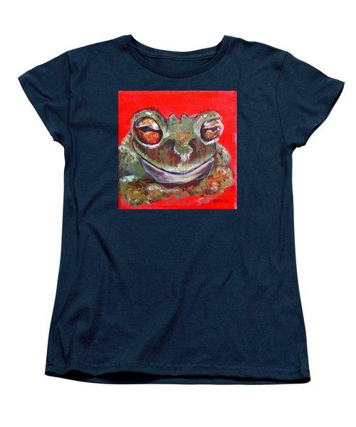 Satisfied Froggy  Women's T-Shirt (Standard Cut) by Barbara O'Toole