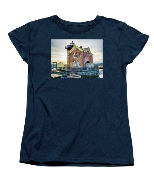Saugerties Lighthouse Women's T-Shirt (Standard Cut) by Nancy De Flon
