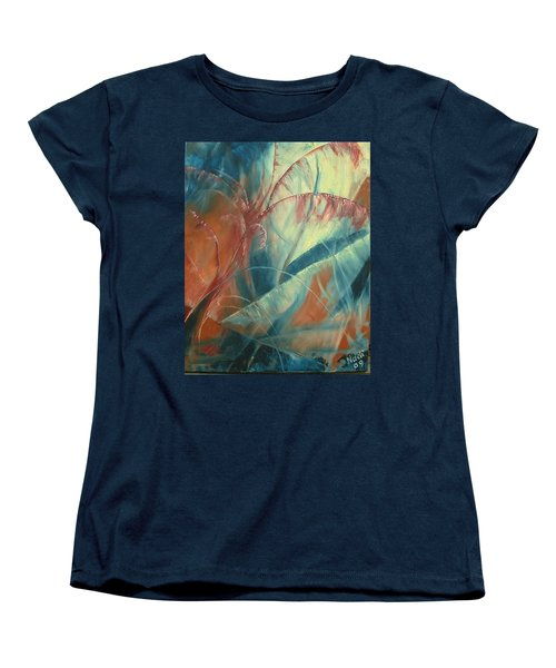 Women's T-Shirt (Standard Cut) featuring the painting Savannah by Renate Nadi Wesley