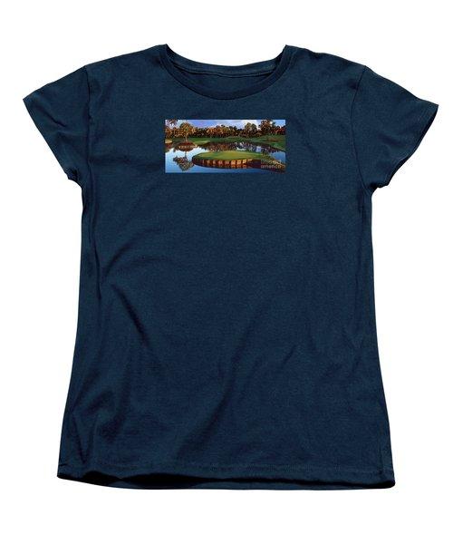 Sawgrass 17th Hole Hol Women's T-Shirt (Standard Cut) by Tim Gilliland