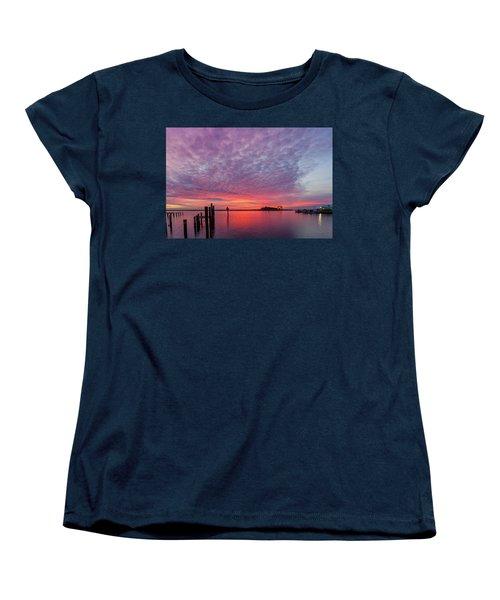 Saxis Sunset Women's T-Shirt (Standard Cut) by David Cote