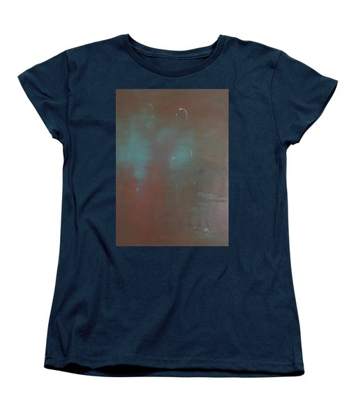 Women's T-Shirt (Standard Cut) featuring the painting Say Nothing At All by Min Zou