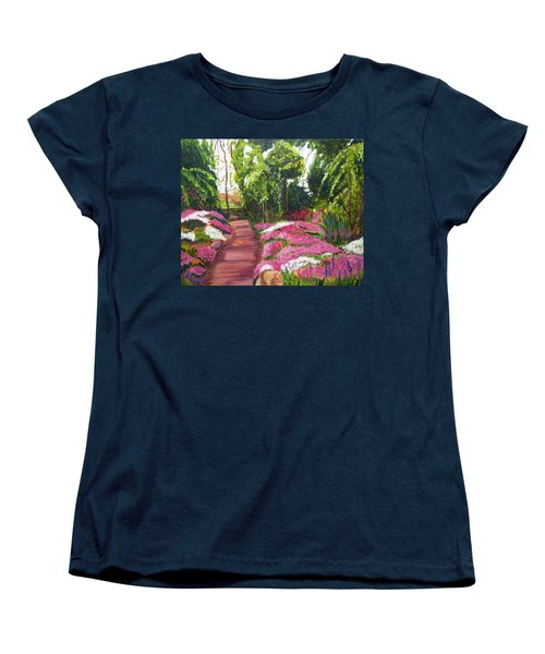 Sayen Path Women's T-Shirt (Standard Cut) by Clara Sue Beym