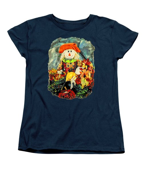Women's T-Shirt (Standard Cut) featuring the photograph Scarecrow T-shirt by Kathy Kelly