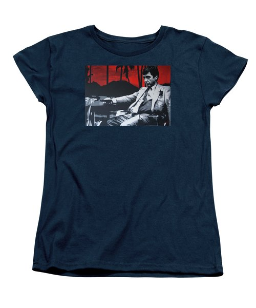 Scarface - Sunset 2013 Women's T-Shirt (Standard Cut) by Luis Ludzska