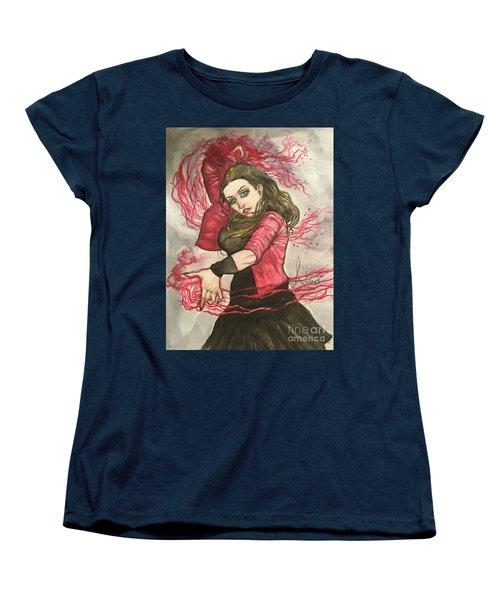 Scarlet Witch  Women's T-Shirt (Standard Cut) by Jimmy Adams