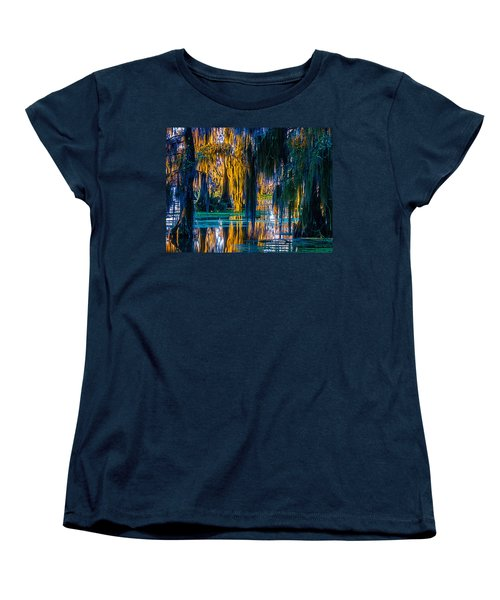 Scary Swamp In The Daytime Women's T-Shirt (Standard Cut) by Kimo Fernandez